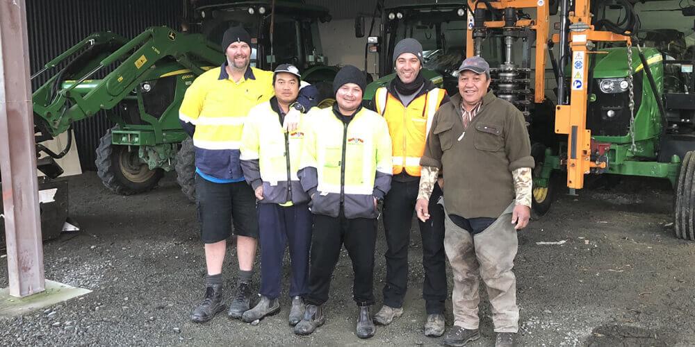 Tractor Drivers At Grapeworx Marlborough Ltd In Blenheim NZ